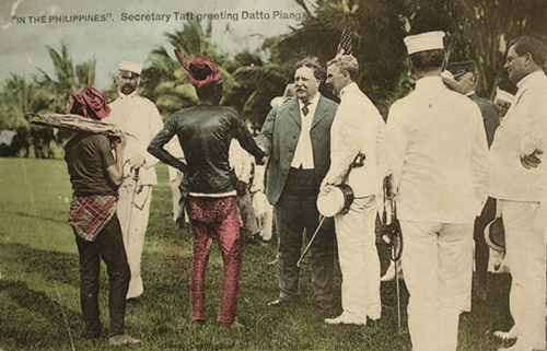 Postcard of Secretary Taft greeting Datto Piang