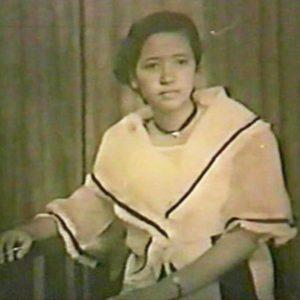 Aileen's mom, Corazon, in Manila, circa late 1950s